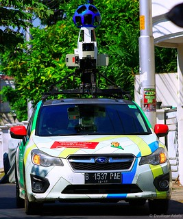 Google Maps Street View Car, saat melewati Jalan Saidan, Semarang Tengah, Kota Semarang, Jawa Tengah, Indonesia