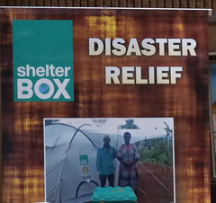 ShelterBox disaster relief can get aid into a disaster zone very quickly.