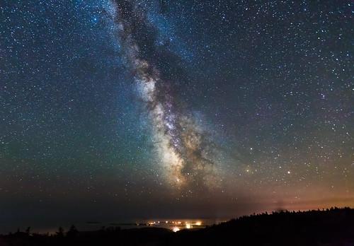 milkyway sky maine atlanticocean galaxy acadia nationalpark acadianationalpark