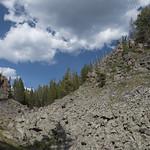 Rock formation on Mallard Lake Trail