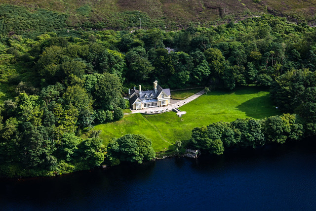 A birds eye view of Lough Bray House