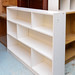 Open white shelf E45