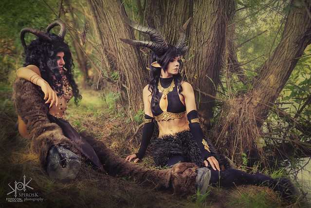 Fotocon 2017: Ailiroy and Luka Costume Artist as Fauns, by SpirosK photography