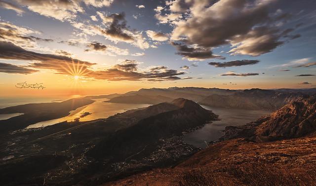 Boka bay on sunset