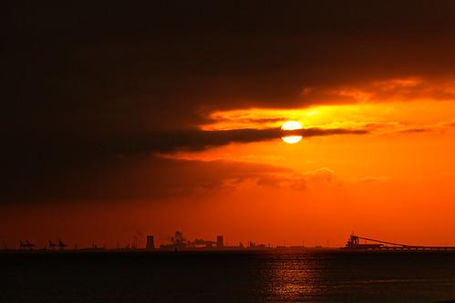 sun river humber estuary clouds morning hull paull silhouette sunrise humberside eastyorkshire canoneos1dxmkll