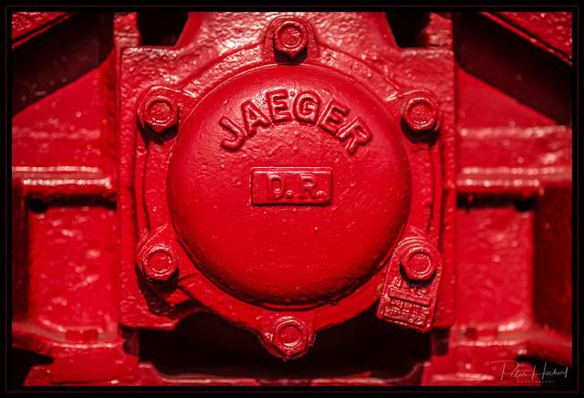 detail of a steam train