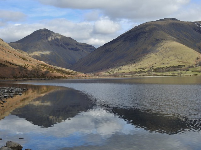 Wastwater in the Lake District, Cumbria, England - March 2018