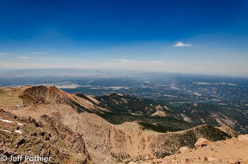 nikon d7000 colorado pikespeak mountain high sky elevation lake distance view