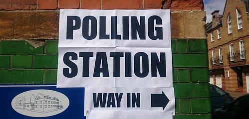 Polling station sign (London) | by thedescrier
