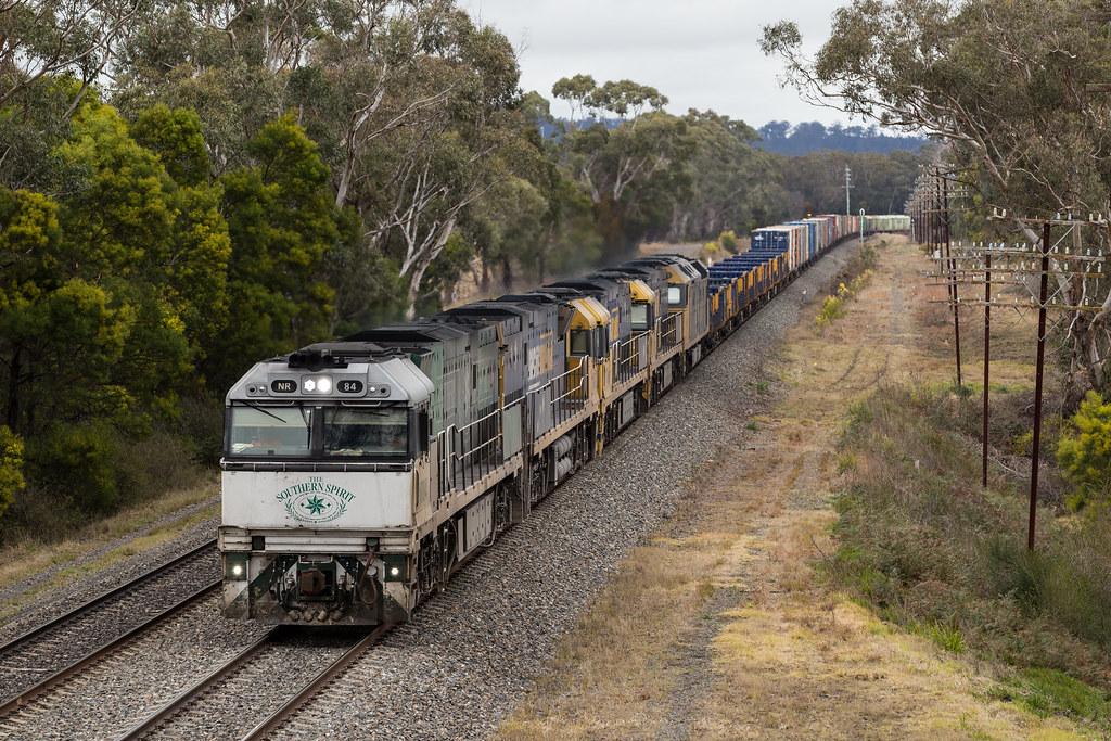 2016-08-03 Pacific National NR84-NR72-NR117-NR43-AN4 Aylmerton 1PS6 by Dean Jones