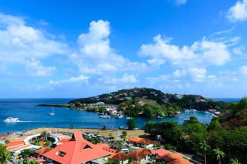 stlucia carnivalliberty cruise 2015 nikon d7100 nikond7100 carnival liberty dock view water island blue fun ship