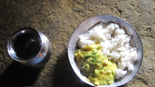 Rice and gatte ki Sabzi | by wanderingjatin