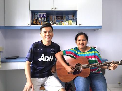 Beginner guitar lessons Singapore Anusha