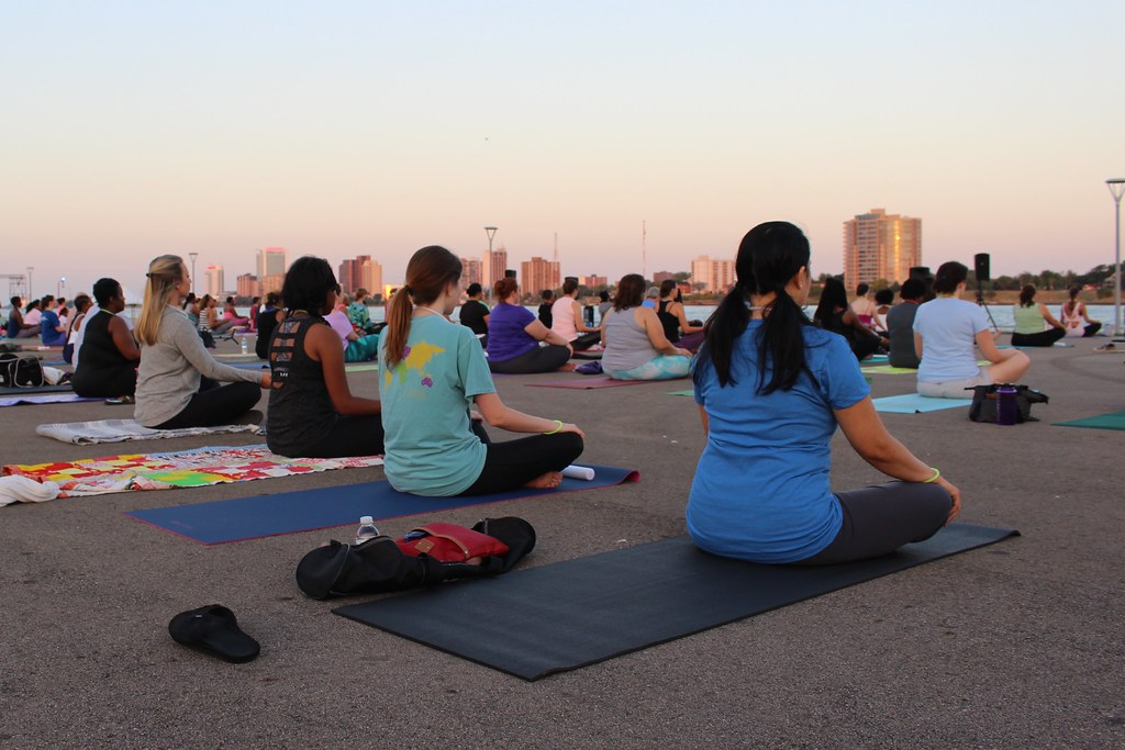 Meditation at Live the Riverfront Moonlight Yoga 2016 | Flickr