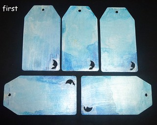 moon cardstock colored handmade tags set