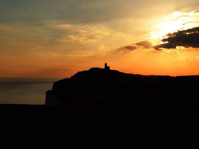 Beachy Head and Belle Tout at Sunset
