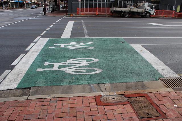 Bike box on Ward Street, North Adelaide