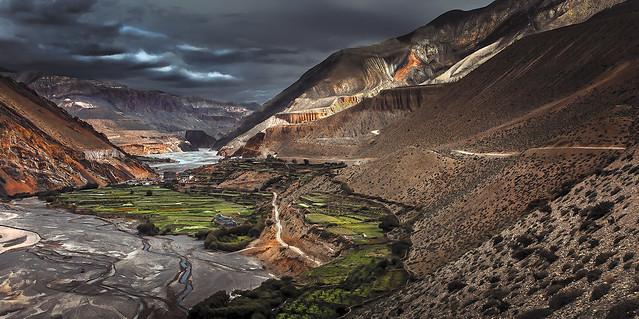 Nepal - The village of Kagbeni on the banks of the Kali Gandaki River