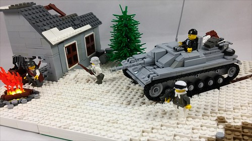 """Lego WW2 """"Lost In The Snow"""" MOC"""