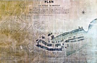 Plan d'Orgelet après l'incendie de 1752