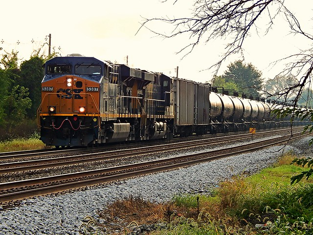 CSX about to enter the yard at Garrett Indiana