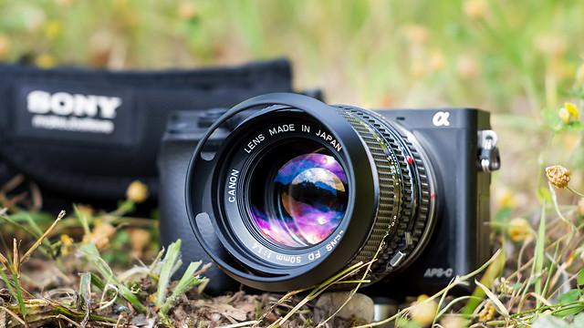 CANON nFD 50mm ƒ/1.4 on SONY ⍺6000