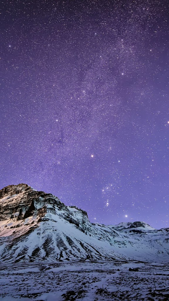 Snow Mountain Stars Wallpaper Iphone 6 Plus Galaxy