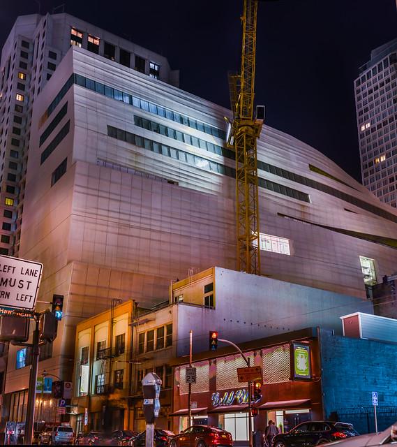 eastern facade of sfmoma's new extension