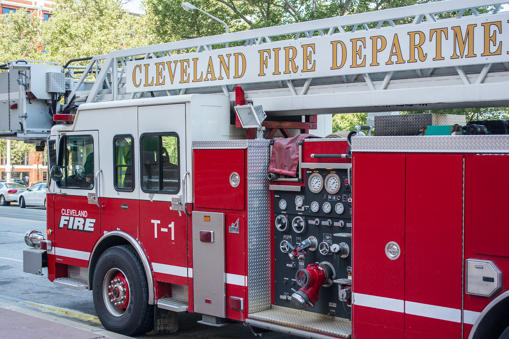 Cleveland Fire Truck 1 cab and panel - Justice Center