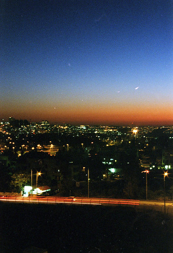 sunset film night lights israel long exposure view kodak jerusalem 400