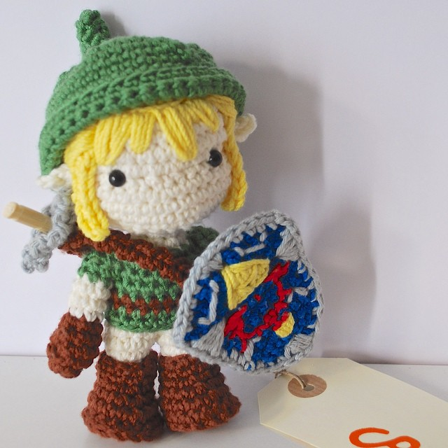 Link and Zelda amigurumi | Sprite Stitch | 640x640