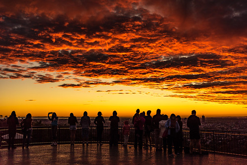 2016 australia brisbane mtcoottha mtcootthalookout qld queensland sonya7r clouds seqld sunrise people silhouette red lookout