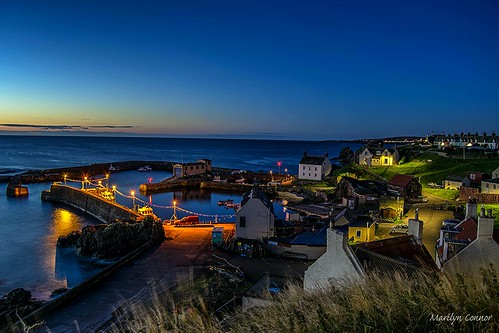 scotland nikond3300 night harbour buildings architecture stabbshead northsea boats landscape marilynconnor seaside outdoor shore sky evening bluehour