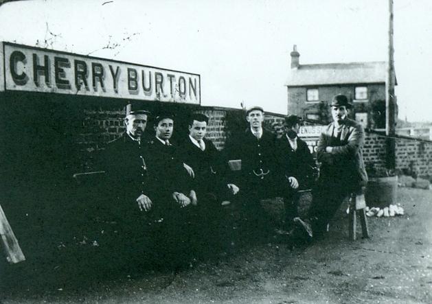 Staff at Cherry Burton railway station 1910 (archive ref DDX1544-2-2)