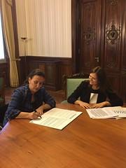 Firma de la Vicepresidenta Gabriela Michetti de Argentina