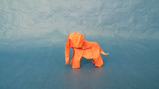 Baby elephant 2016 by Artur Biernacki, folded by Tomasz Krawczyk | by Tomasz Krawczyk Origami