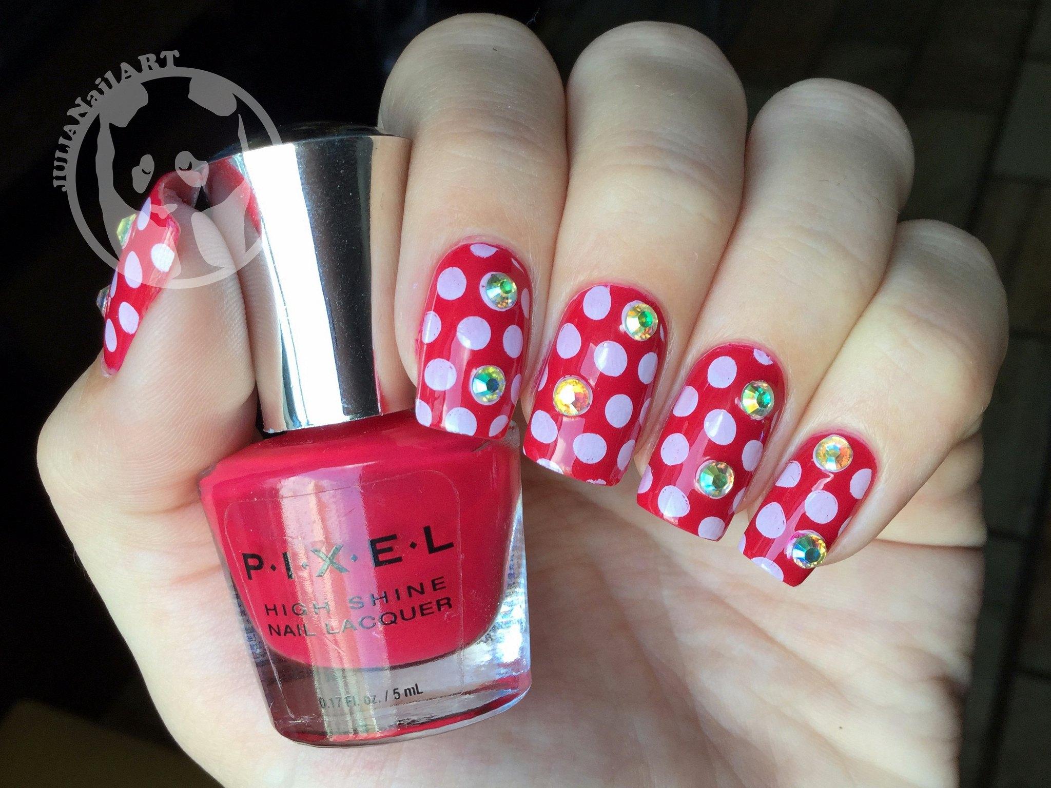 RED Bling Nails | Bling Nail Designs For Shining Shimmering Splendid Nails | bling nails | acrylic nails with bling
