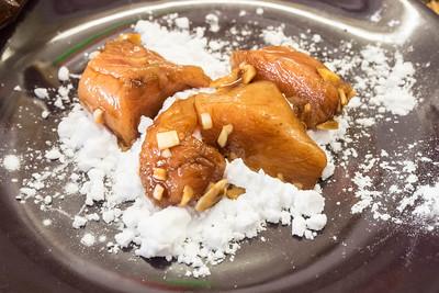 Enharina el pollo con fécula de patata