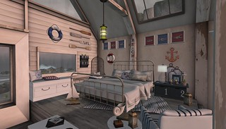 4 Seasons of Bedrooms: Anchors Aweigh (Summer Retreat) | by Hidden Gems in Second Life (Interior Designer)