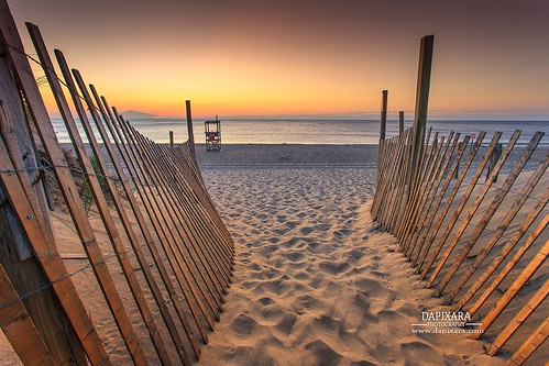 sunrise nauset beach illuminated light fence orleansma dapixaraphotography path ocean oceanartworkforsale beaches newengland capecodbeaches colors capecodsunrises