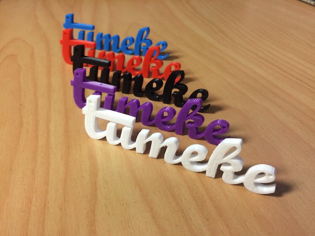 Tūmeke x4   3D printed words for Te wiki o te reo Māori,