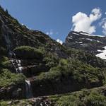 Waterfall near Gunsight Lake