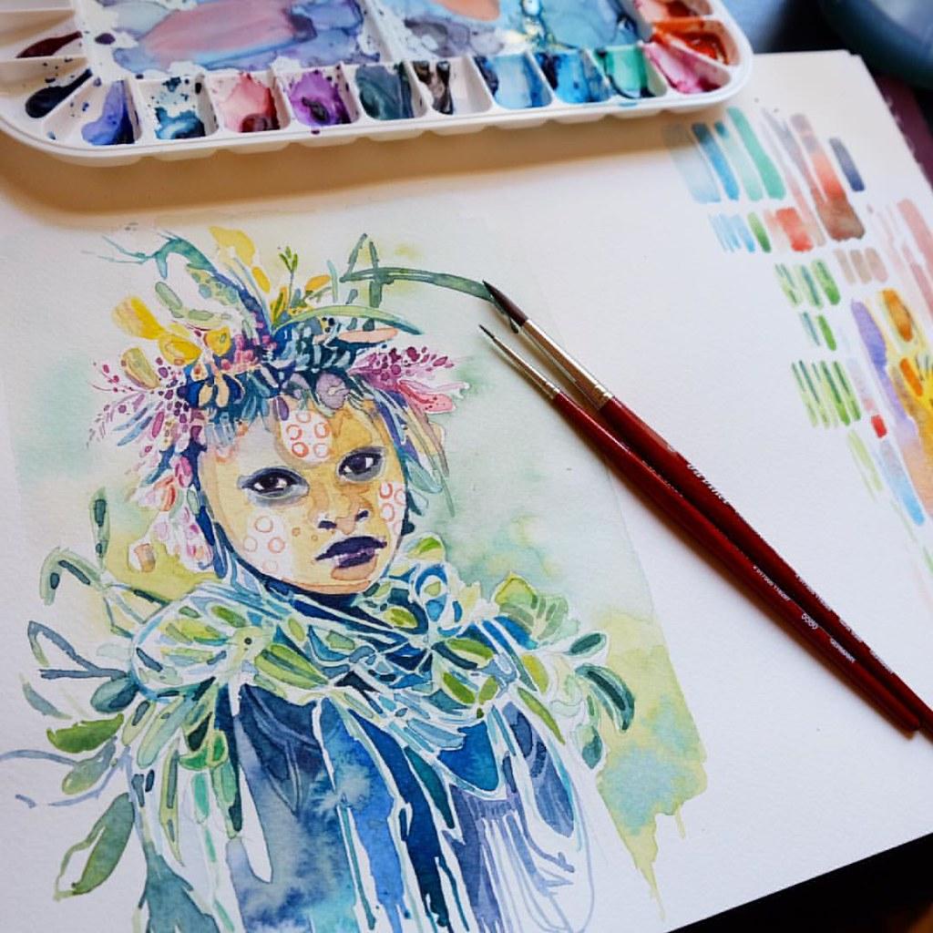 Watercolour sketch  Maimeriblu watercolour on Fabriano Stu