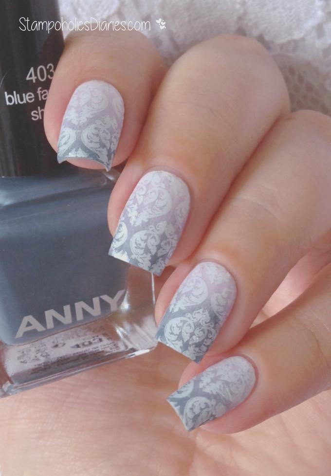 Baroque Nails Anny 403 blue fashion show, 225 lilac powder
