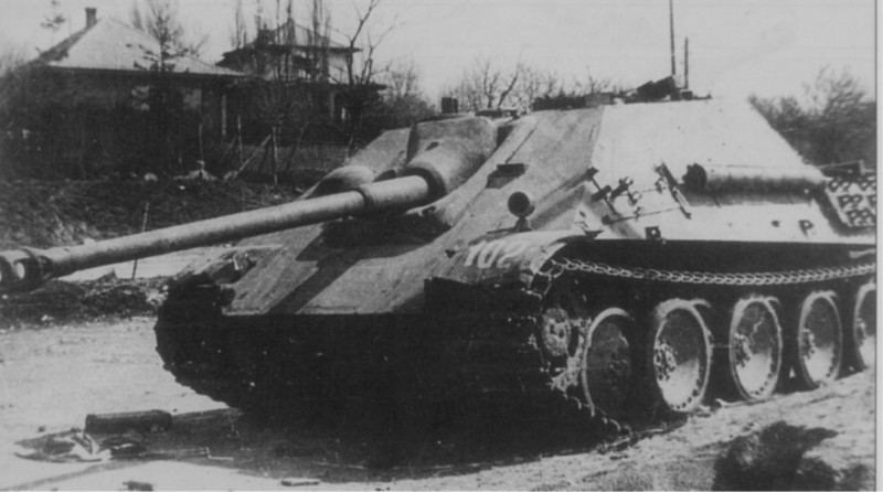 "Jagdpanther (German: ""hunting panther"")"