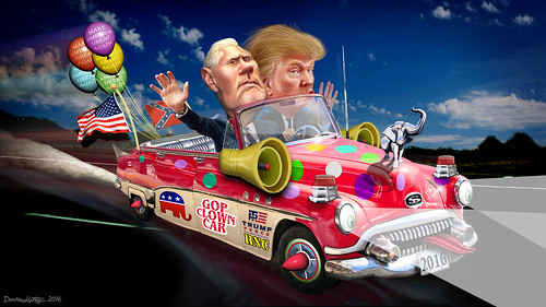 Trump-Pence Clown Car 2016 | by DonkeyHotey
