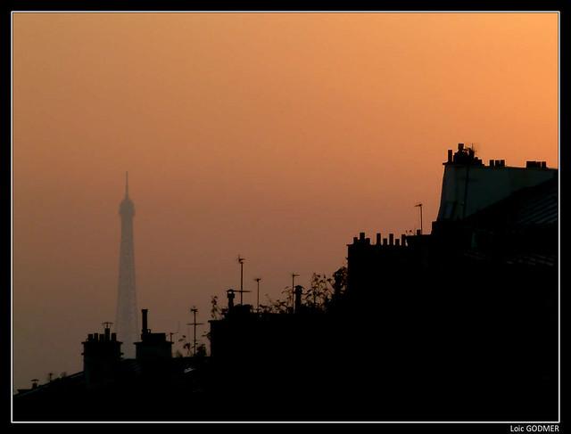 Paris - Tour Eiffel vu de Montmartre
