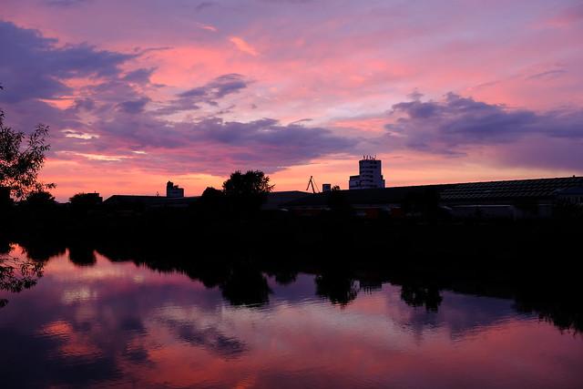 Sunset on Bamberg harbour