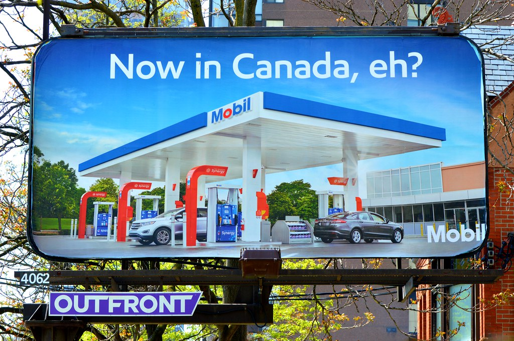 Now In Canada      Eh?      Mobil Gas Stations Arrive Coas