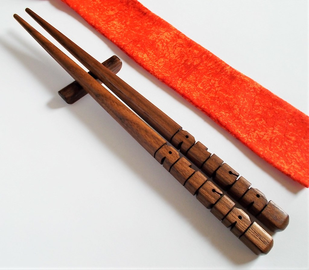 Personalized Walnut Wood Chopsticks Gift Set Wwwetsyco Flickr